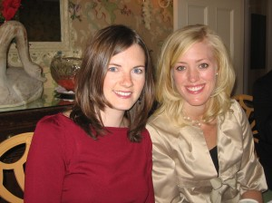 Katherine & I at her bridesmaids\' luncheon in November