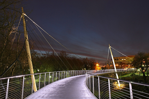 Liberty Bridge in Falls Park, Downtown Greenville