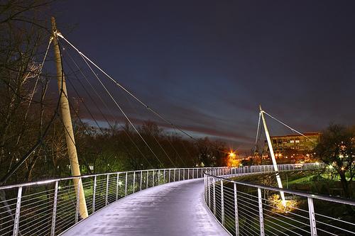 Liberty Bridge in Falls Park, Downtown Greenville